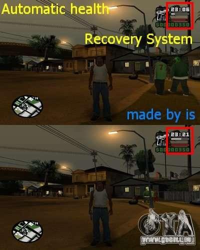 Automatische Nachfüllung Gesundheit. für GTA San Andreas