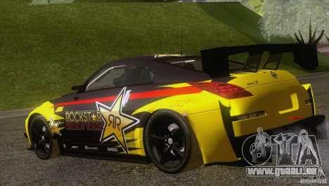 Nissan 350Z Rockstar für GTA San Andreas linke Ansicht