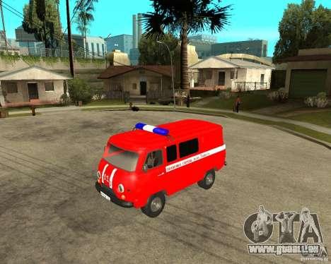 UAZ-pompiers pour GTA San Andreas laissé vue