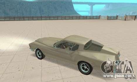 Buick Riviera 1972 Boattail pour GTA San Andreas vue arrière