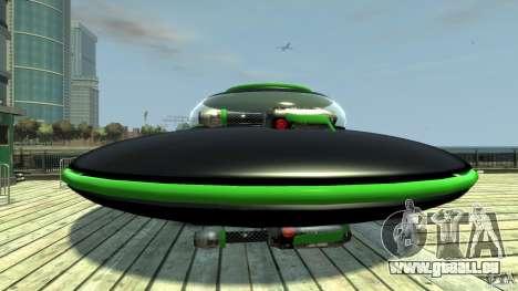 UFO neon ufo green pour GTA 4 est une gauche