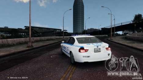 NYPD BMW 350i pour GTA 4 Vue arrière de la gauche