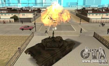 Char t-90 pour GTA San Andreas vue de droite