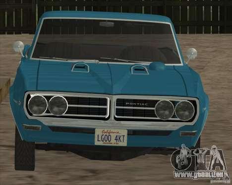 Pontiac Firebird Conversible 1966 für GTA San Andreas Innenansicht