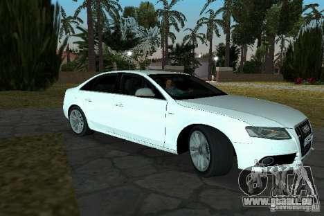 Audi S4 2010 für GTA Vice City zurück linke Ansicht