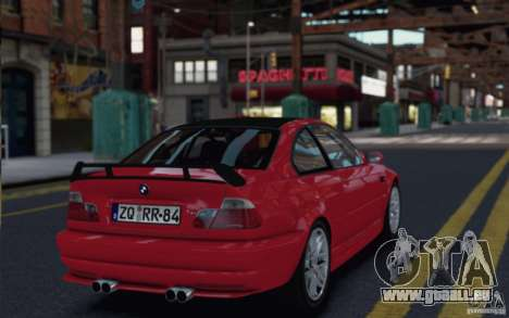 BMW M3 Street Version e46 pour GTA 4 est un droit