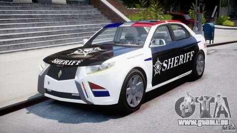 Carbon Motors E7 Concept Interceptor Sherif ELS für GTA 4 Rückansicht
