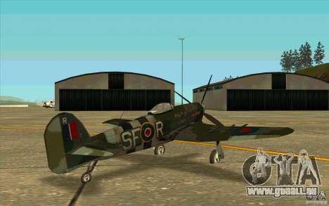 Hawker Typhoon pour GTA San Andreas vue de droite