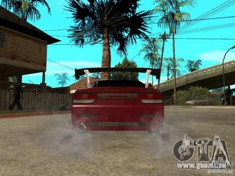 Nissan 240SX Tuned für GTA San Andreas zurück linke Ansicht