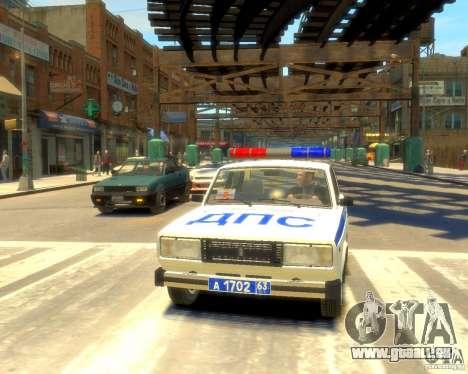 VAZ-2105-Polizei für GTA 4 Rückansicht
