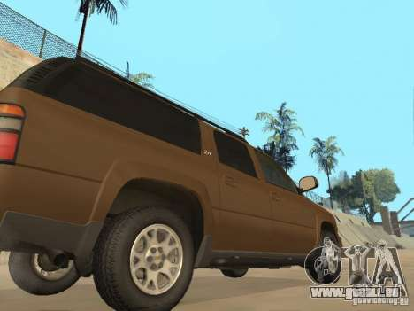 Chevrolet Suburban 2003 pour GTA San Andreas vue intérieure