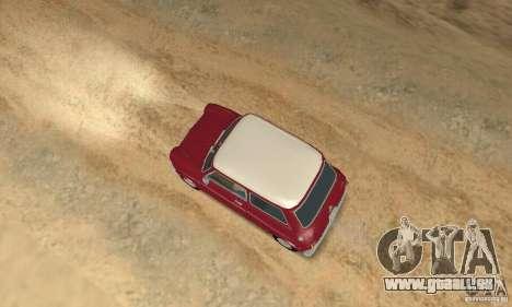 Mini Cooper S für GTA San Andreas zurück linke Ansicht
