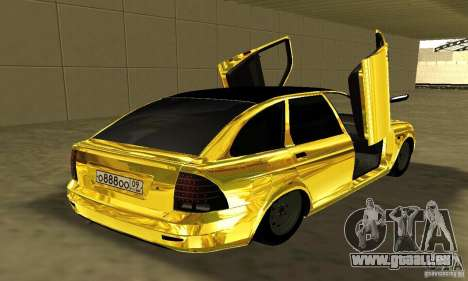 Lada Priora Gold pour GTA San Andreas laissé vue