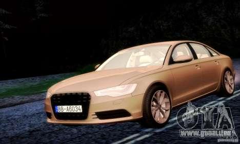 Audi A6 2012 pour GTA San Andreas vue arrière