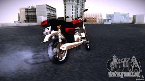 Honda CG 125 für GTA San Andreas zurück linke Ansicht