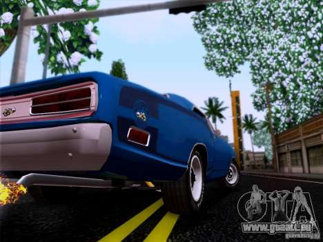 Dodge Coronet Super Bee v2 für GTA San Andreas Rückansicht