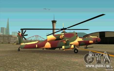 Hunter Armee Look pour GTA San Andreas sur la vue arrière gauche