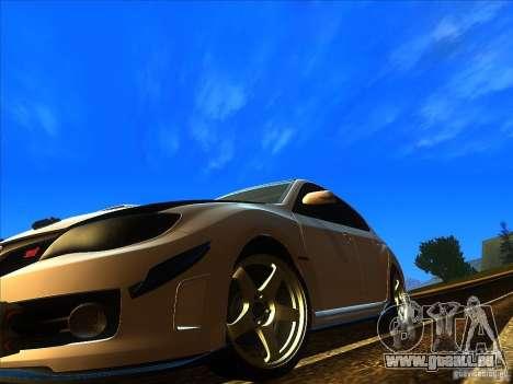 Subaru Impreza WRX 2008 Tunable für GTA San Andreas rechten Ansicht