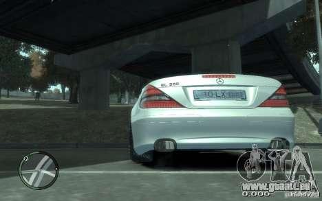 Mercedes-Benz SL 500 2006 für GTA 4 hinten links Ansicht