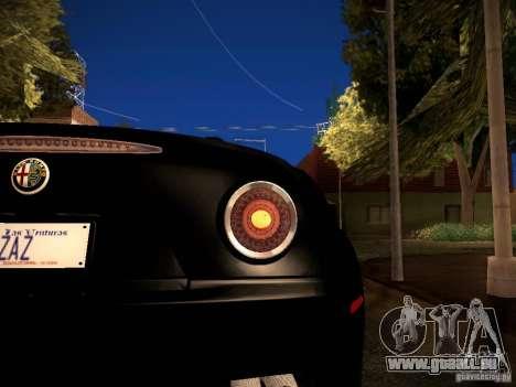 Alfa Romeo 8C Spider 2012 für GTA San Andreas Seitenansicht