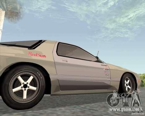 Mazda Savanna RX-7 FC3S pour GTA San Andreas vue arrière