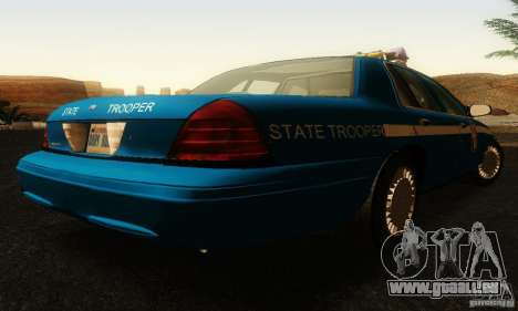 Ford Crown Victoria Wisconsin Police für GTA San Andreas linke Ansicht