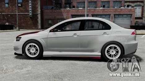 Mitsubishi Lancer Evolution X ToneBee Designs für GTA 4 linke Ansicht