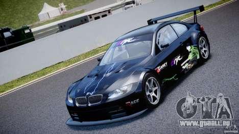 BMW M3 GT2 Drift Style pour GTA 4 est une vue de l'intérieur