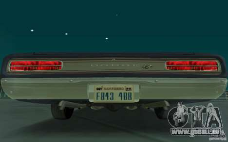 Dodge Coronet Super Bee 1970 pour GTA San Andreas sur la vue arrière gauche