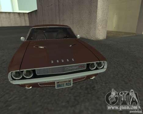 Dodge Challenger für GTA San Andreas Innenansicht