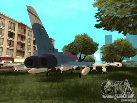 Eurofighter Typhoon pour GTA San Andreas laissé vue
