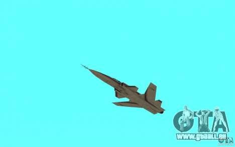 Grumman X29A pour GTA San Andreas sur la vue arrière gauche