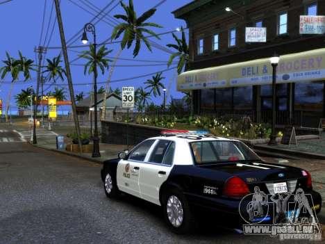Ford Crown Victoria LAPD [ELS] pour GTA 4 est une gauche
