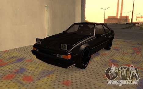 Toyota Celica Supra 2JZ-GTE 1984 pour GTA San Andreas vue intérieure