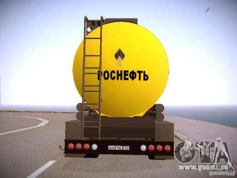 Remorque pour Mercedes-Benz Actros Rosneft pour GTA San Andreas laissé vue