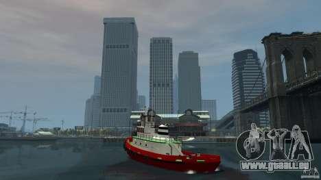 TUG Texture and Handling pour GTA 4 Vue arrière de la gauche