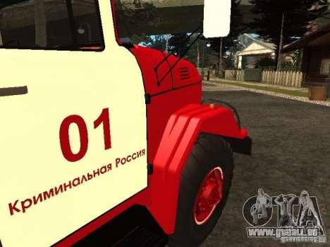 ZIL 131 Feuer für GTA San Andreas Innenansicht