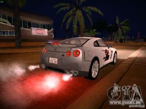 Nissan GT-R pour GTA San Andreas moteur