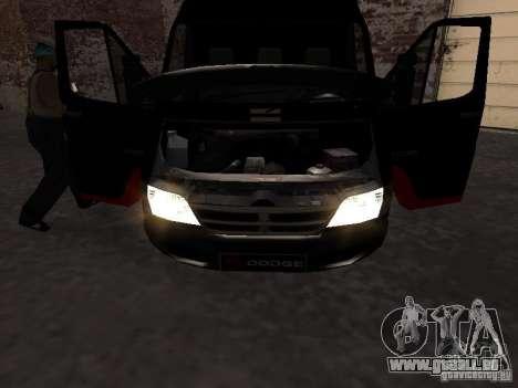 Dodge Sprinter Van 2500 pour GTA San Andreas vue de droite