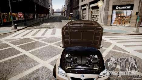 BMW M6 2013 pour GTA 4 est une vue de l'intérieur