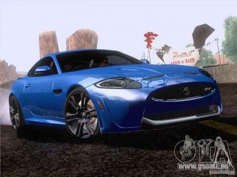 Jaguar XKR-S 2011 V2.0 pour GTA San Andreas vue arrière