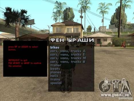 Machines de géniteurs Premium-Spauner de véhicul pour GTA San Andreas