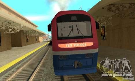 Diesel Lokomotive TÈP150-001 für GTA San Andreas linke Ansicht