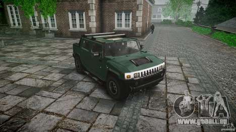 Hummer H2 für GTA 4 Rückansicht