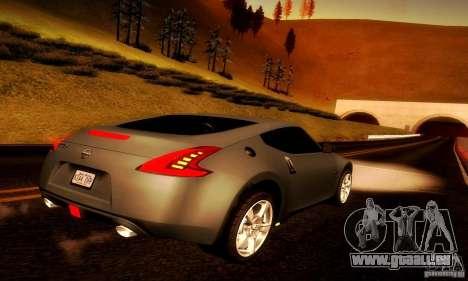 Nissan 370Z V2 für GTA San Andreas zurück linke Ansicht