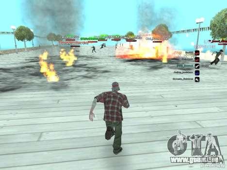 SA:MP 0.3d pour GTA San Andreas cinquième écran