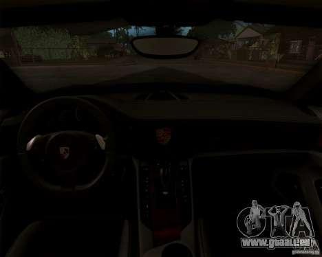Porsche Panamera Turbo 2010 Final für GTA San Andreas zurück linke Ansicht