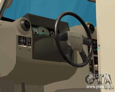 Hummer H2 MONSTER pour GTA San Andreas vue intérieure