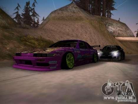 Nissan Silvia S13 Team Burst für GTA San Andreas Innen