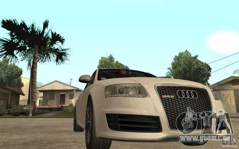 Audi RS6 2009 pour GTA San Andreas vue arrière